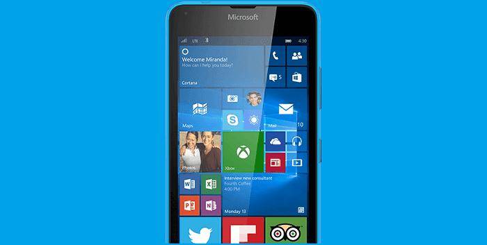 Windows 10 Mobile on Lumia Phone