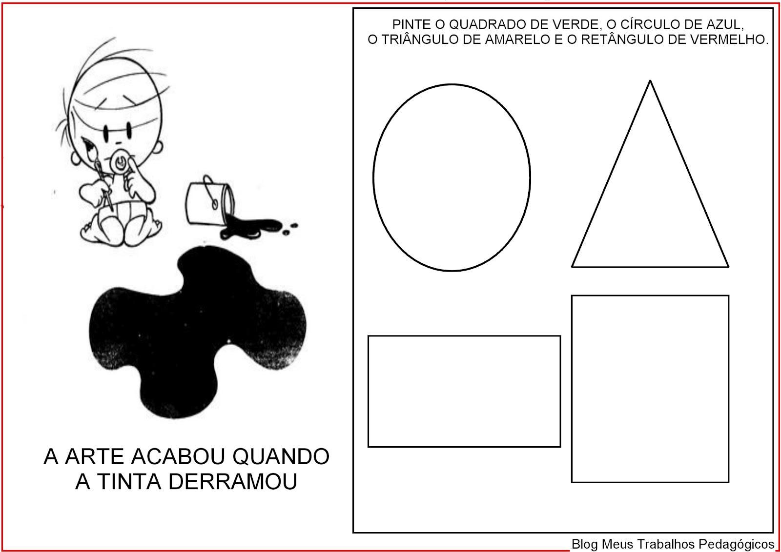 Muito Meus Trabalhos Pedagógicos ®: Caderno de Atividades - Maternal JL39