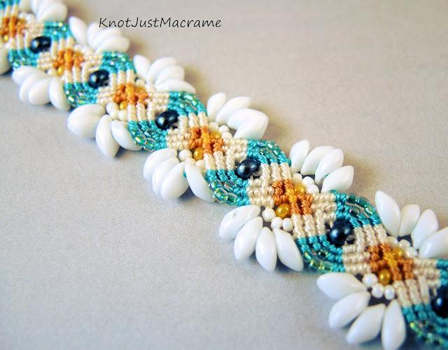 Daisy micro macrame bracelet from Knot Just Macrame.