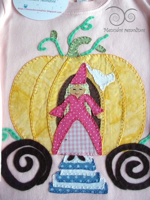 Camiseta Calabaza y princesa detalle