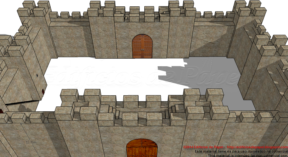 Medieval Fortification Paper Model