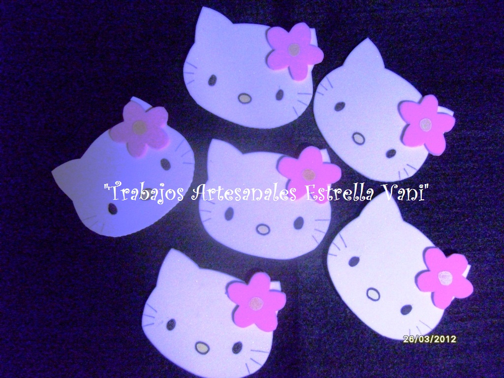 """TRABAJOS ARTESANALES """"ESTRELLA VANI"""": Cumpleaños Hello Kitty"""