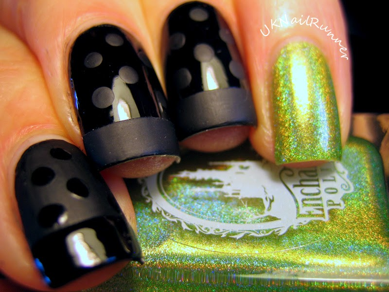 Nail Art with Laqa&Co Tuxedo and Enchanted March 2014