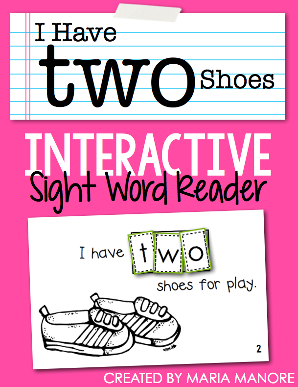 "emergent reader for sight word ""TWO"""