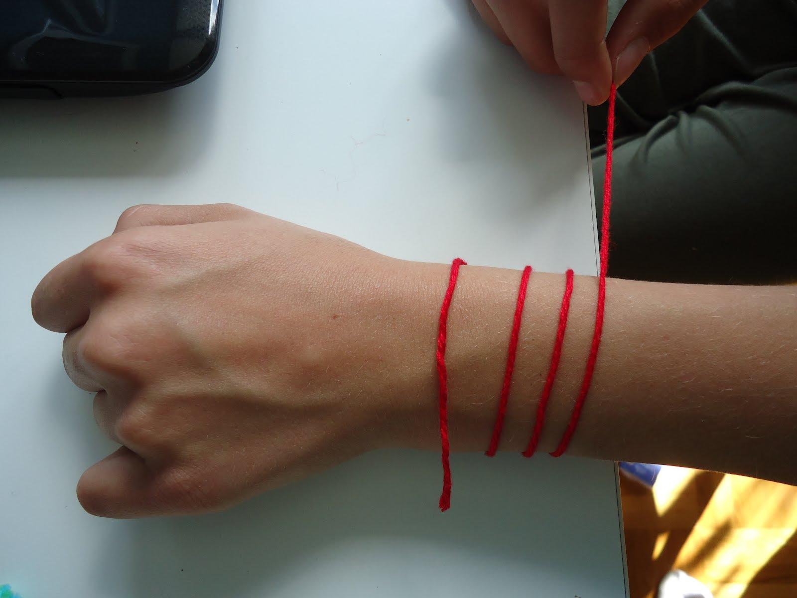 armband rot faden