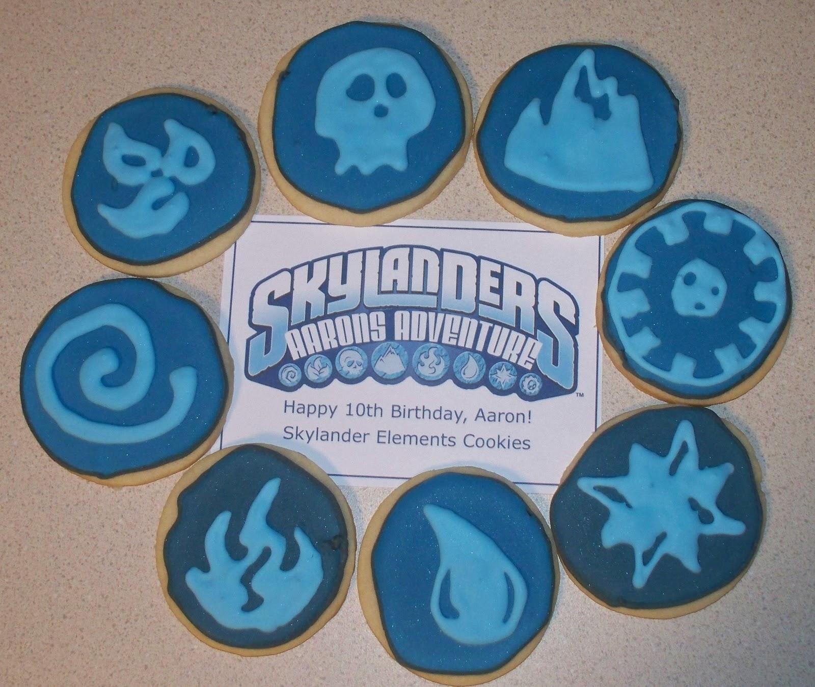 Make Do: Skylanders Elements Cookies Plus A Birthday Banner
