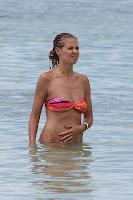 Heidi Klum in the water