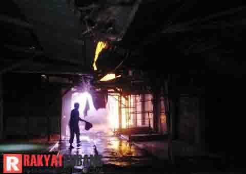 Pasar Sukamandi Subang Terbakar