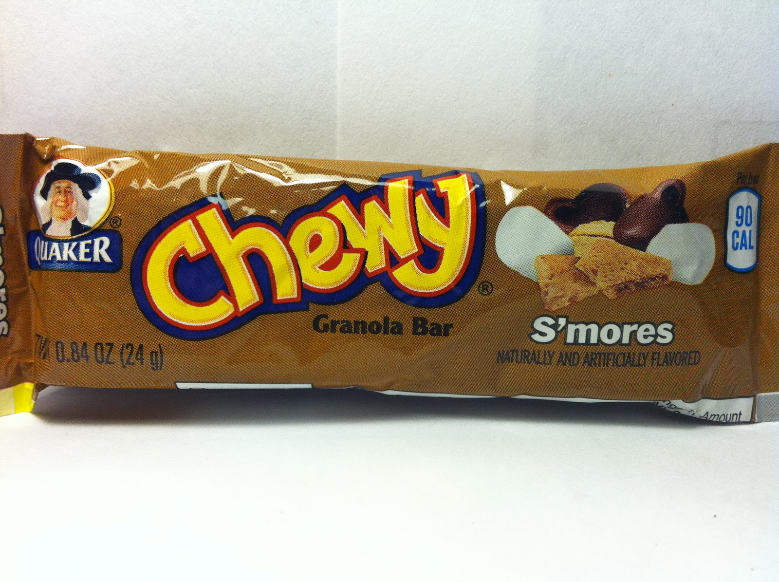 Crazy Food Dude: Review: Quaker Chewy Low Fat S'mores Granola Bar