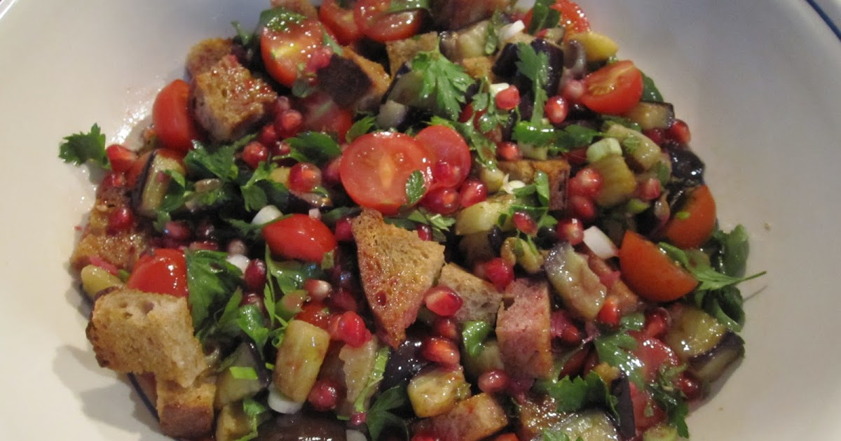 Vicky's Online Cookbook: Fattoush Salad with Pomegranate ...
