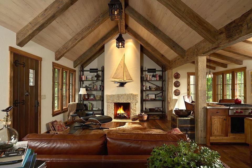 Boiserie c cottage in pietra e legno for Case di cottage inglesi