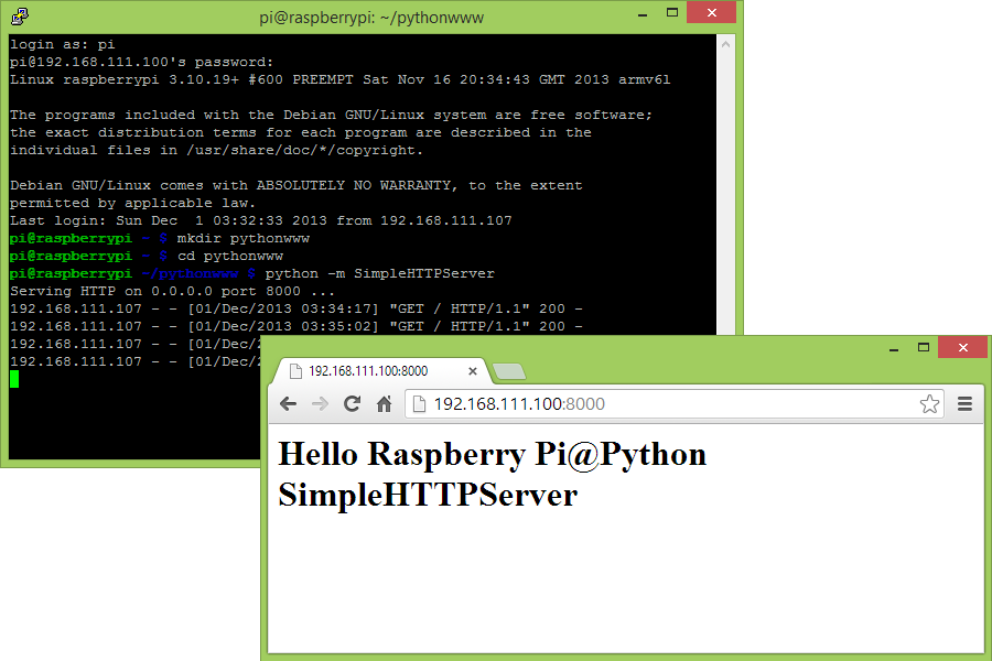 writing web server in python