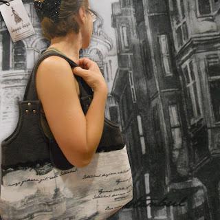 kadın çantası istanbul deseni