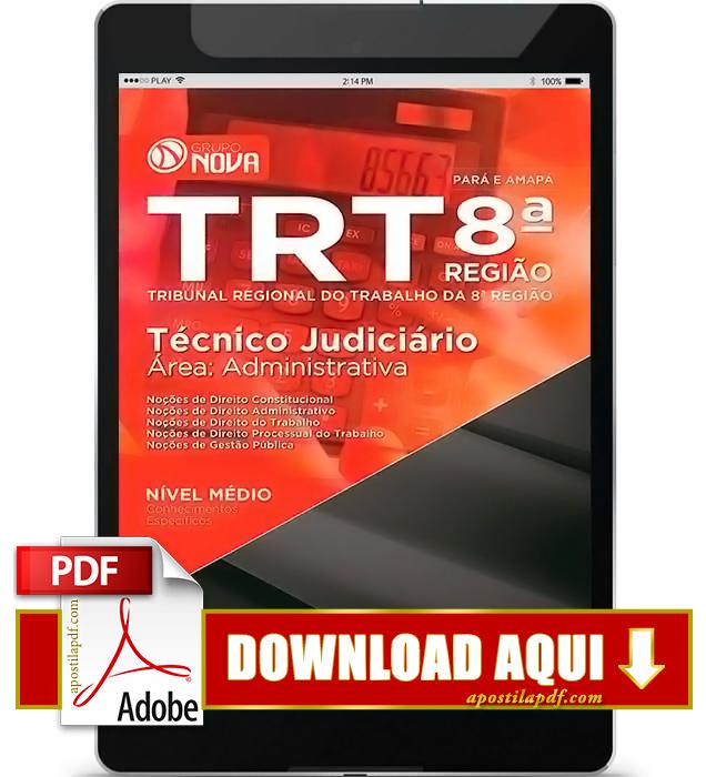 Apostila TRT 8ª Região Técnico Judiciário PDF Download