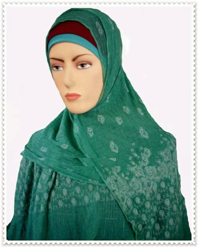 model jilbab menutupi dada