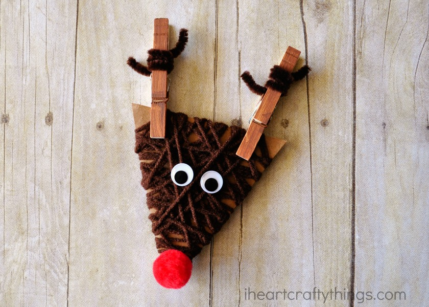 Yarn wrapped reindeer craft for kids i heart crafty things for Reindeer project