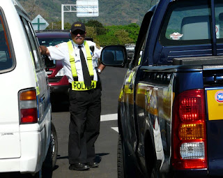 Cop in traffic