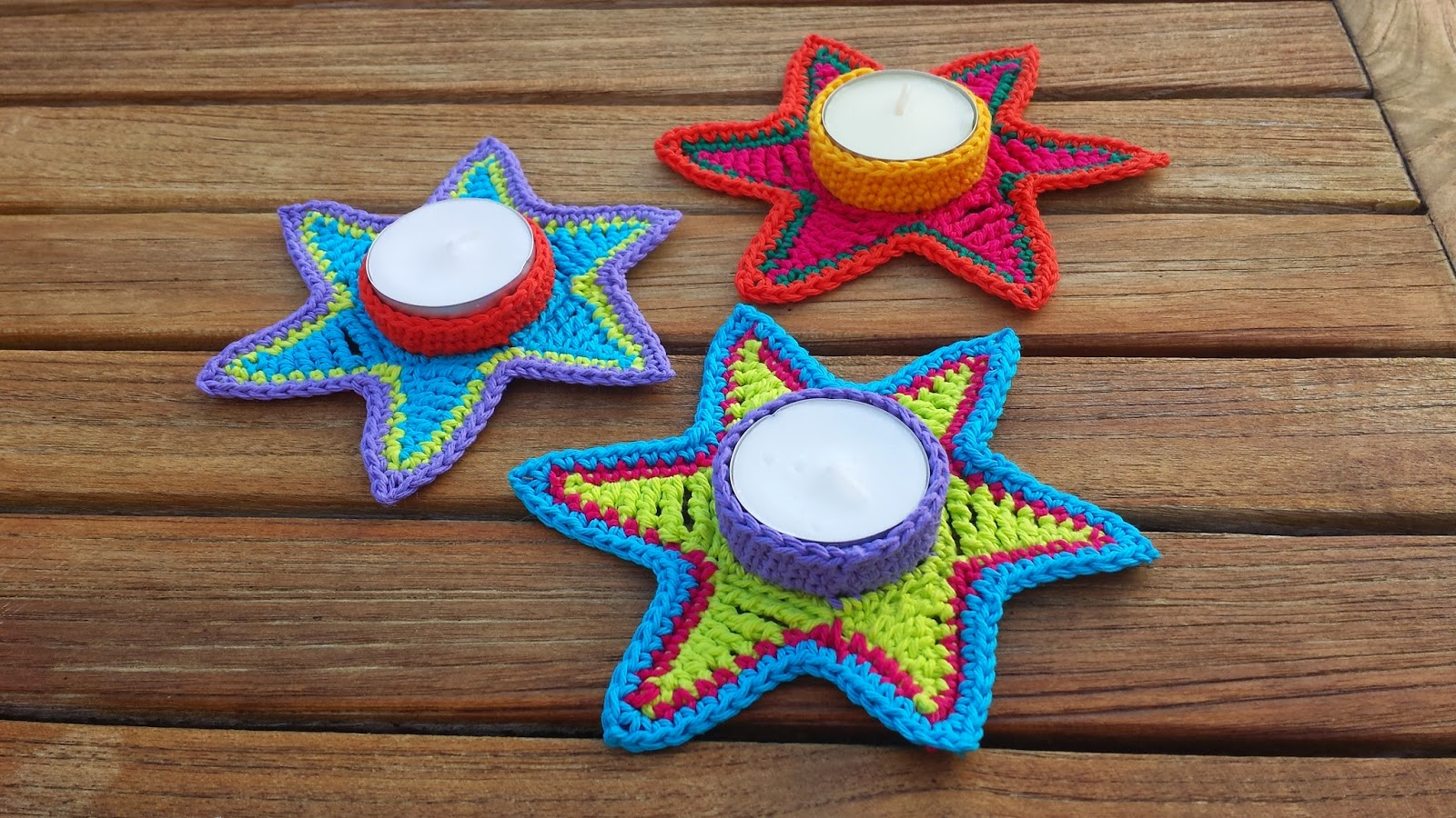 crochet tealight star