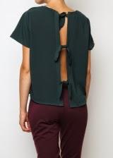blusa con la espalda descubierta