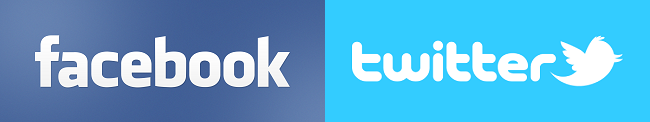 Logo serwisów Facebook oraz Twitter