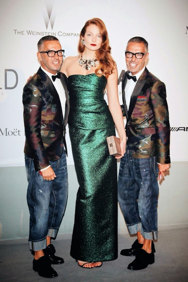 Dan Caten and Dean Caten in DSquared2 - amfAR Cinema Against AIDS Gala #Cannes2014