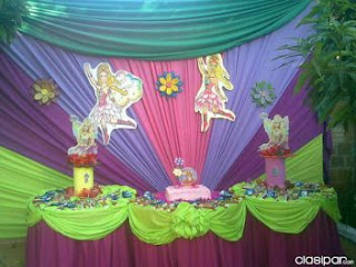 Children parties, Barbie decoration