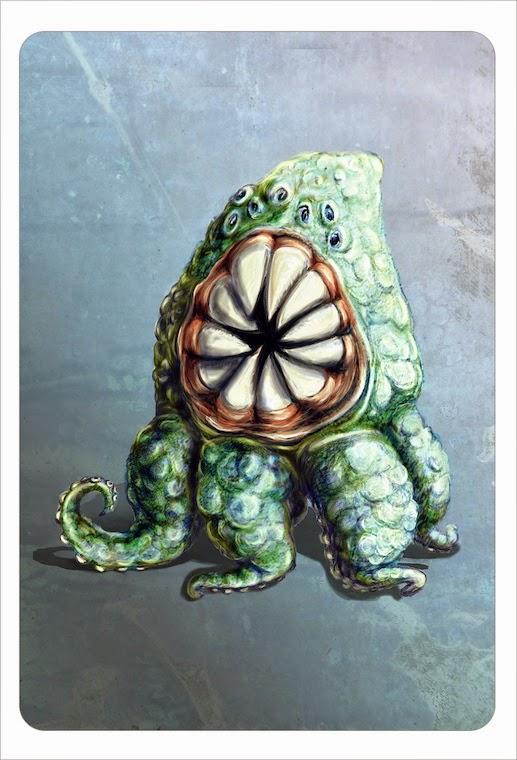 Monster, mixed media, illustration, Kommoß