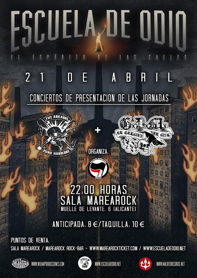 ESCUELA DE ODIO + The Arkadas + El Germel del Mal