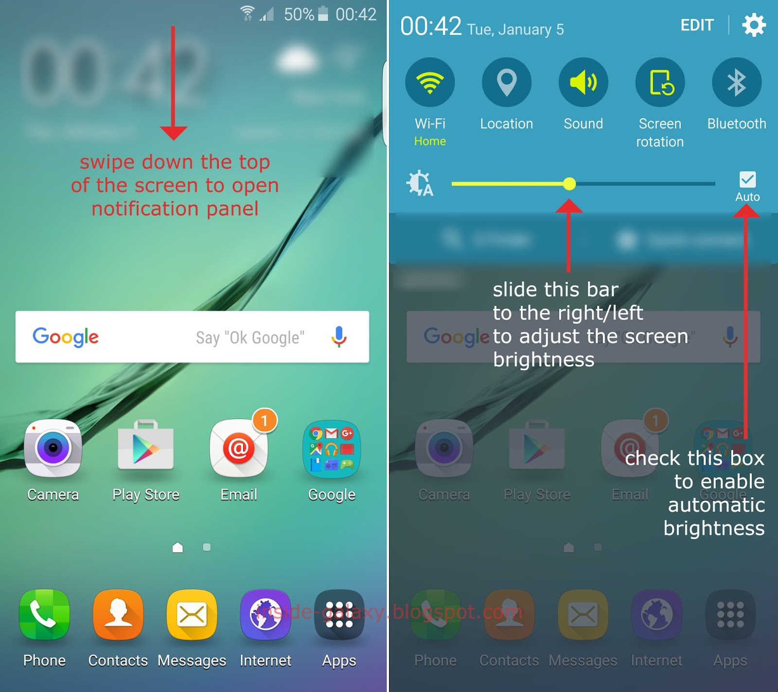 Image result for android screen brightness