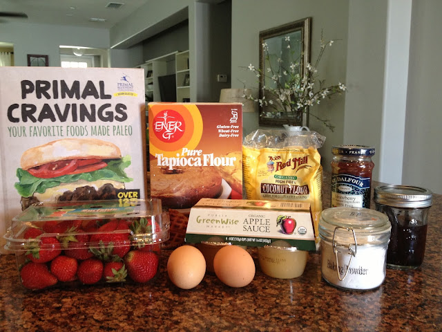 Ingredients for coconut flour pancakes #paleo