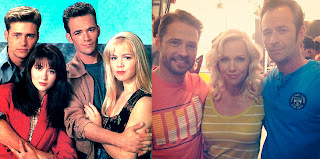 Jason Priestley, Jennie Garth y Luke Perry
