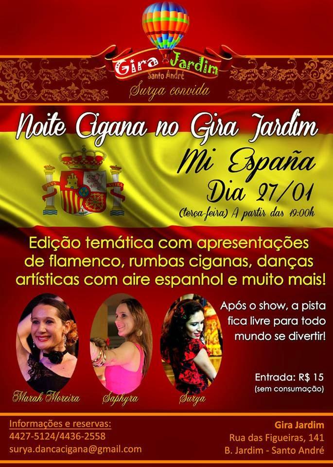 Evento: Noite Cigana no Gira Mundo em Santo André - 27/01/15