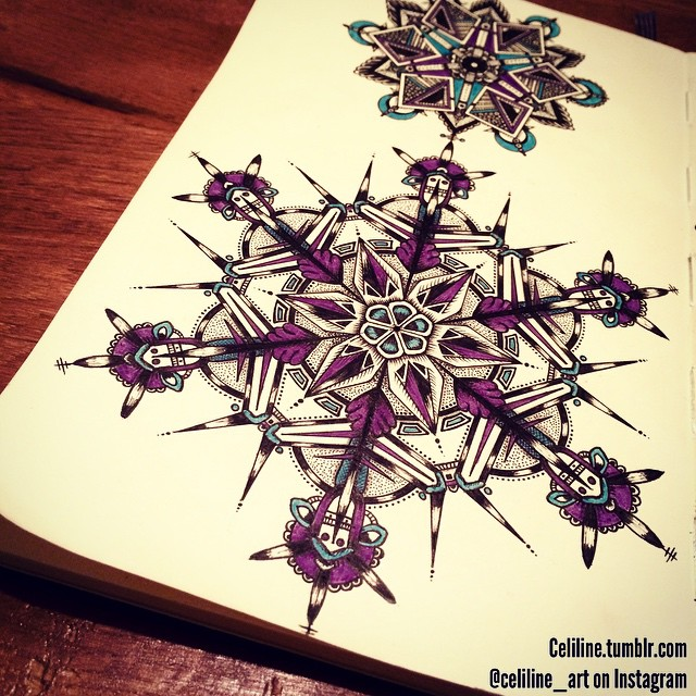 12-Celiline-Hand-Drawn-Zentangle-Doodles-Illustrations-Drawings-www-designstack-co