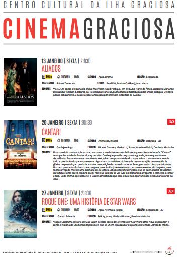 Cartaz de Cinema de Janeiro 2017