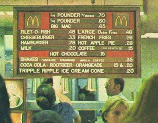 Tywkiwdbi tai wiki widbee mcdonald 39 s menu 1973 for Big fish happy hour