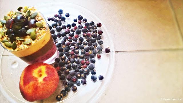 Deser owocowo-czekoladowy z kasztanami