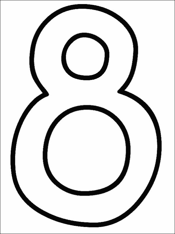 Coloring pages of numbers 1 10 for Number 8 coloring page