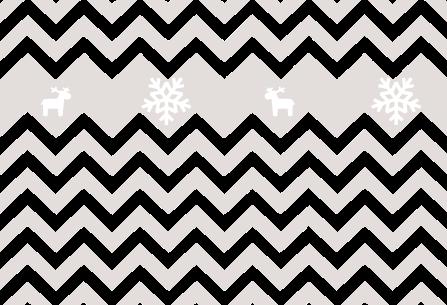 free winter pattern for blog - zygzaki i reniferki ciemne