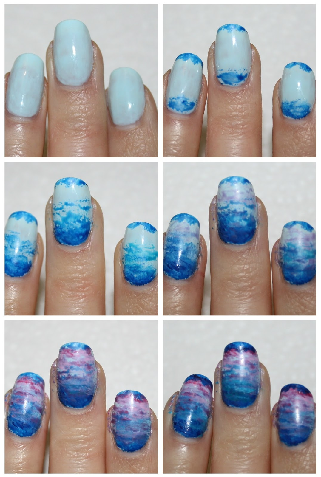 Winter Snowy Mountains Nails
