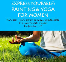 June 23rd Painting & Yoga in Fredericton