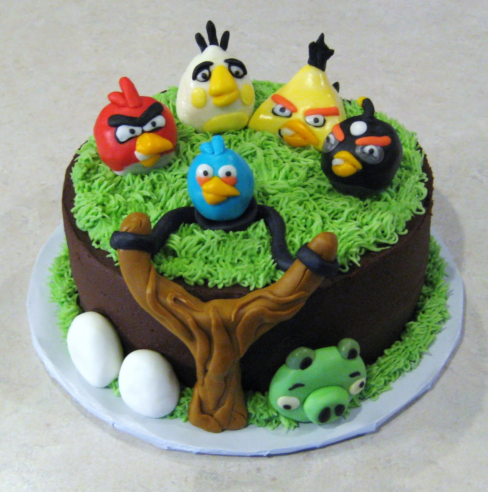 Images Of Angry Birds Cake : Custom Cakes by Julie: Angry Birds Cake