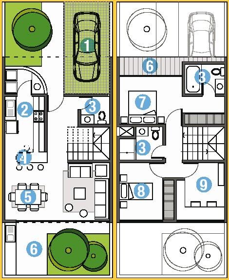 Planos proyecto direcci n y construcci n de obras for Planos de casas 6x20