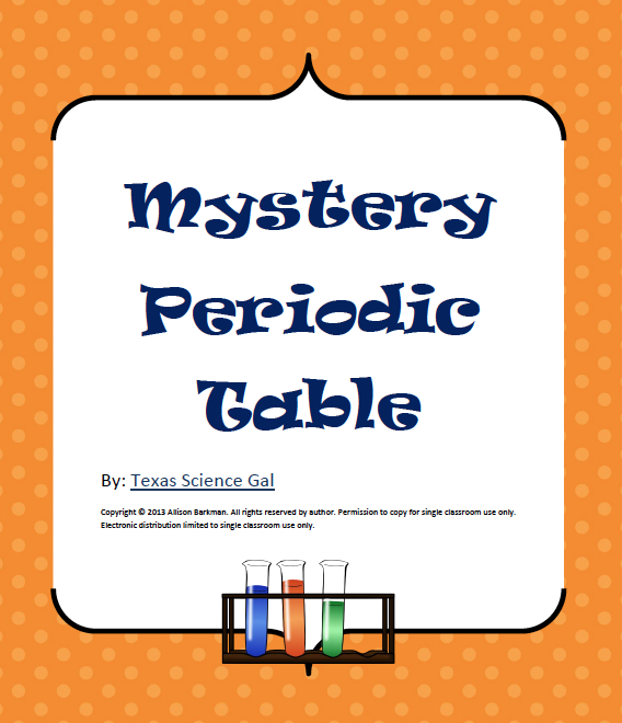 "Entrepreneurs: FREE SCIENCE LESSON - ""Mystery Periodic Table"