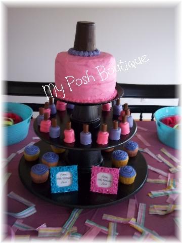 Nail Polish Themed Birthday Cakes