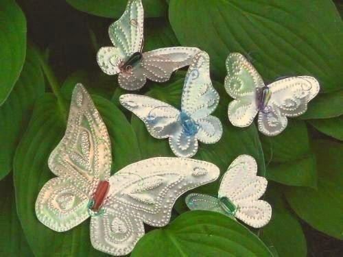 Puedes hacer con las mariposas de aluminio interesantes detalles