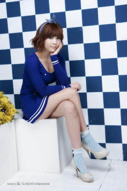 Kim In Ae - Korean Model in Blue Fashion