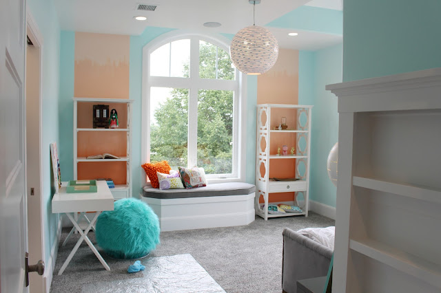 Home tour: Ombre girls room