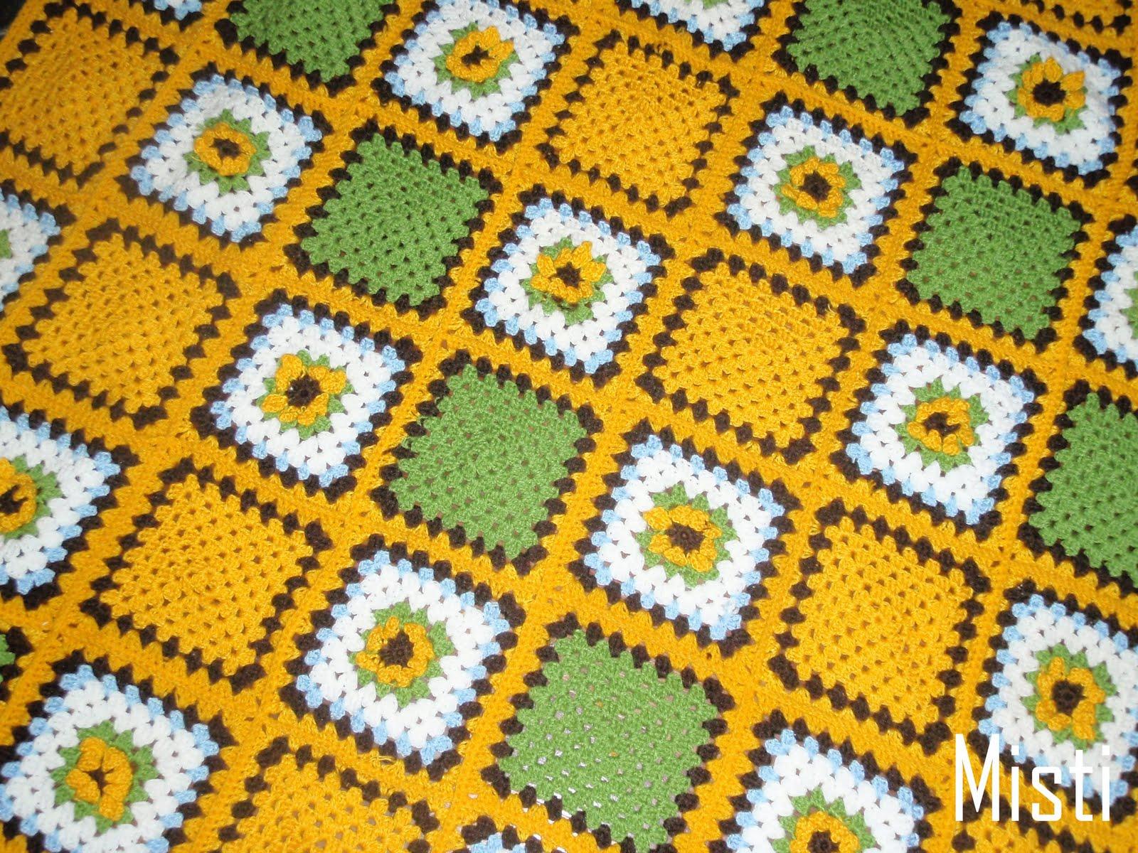 Misti Crochet: My Sunflower Blankie