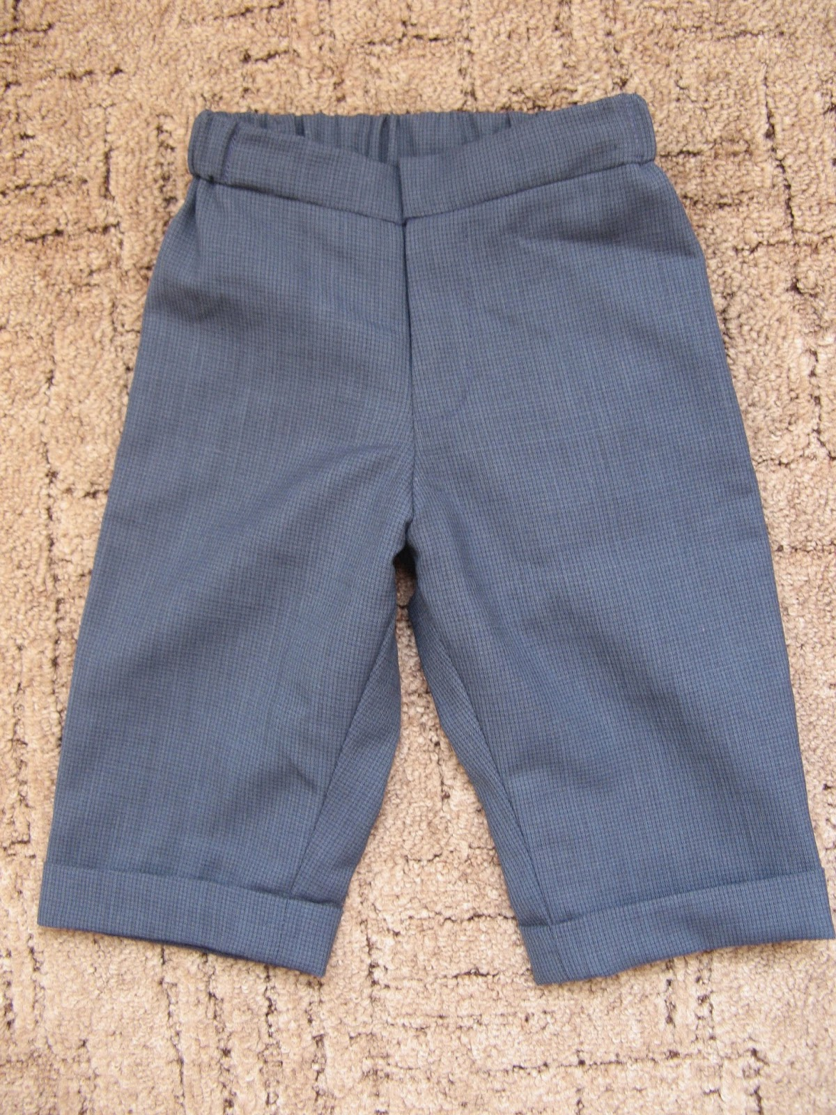 брюки на мальчика до года своими руками