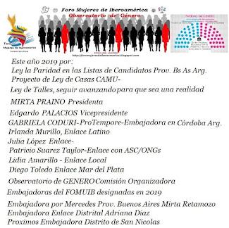 Foro Mujeres de Iberoamerica - Observatorio de Genero